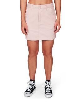 ROSE BLUSH WOMENS CLOTHING RVCA SKIRTS - RV-R292836-RSB