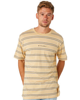 YELLOW STRIPE MENS CLOTHING THRILLS TEES - TS8-129KYELST