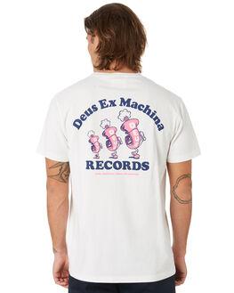 VINTAGE WHITE MENS CLOTHING DEUS EX MACHINA TEES - DMF91957BVNWHT