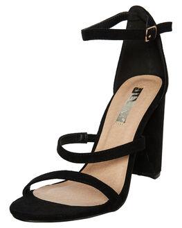 BLACK SUEDE WOMENS FOOTWEAR BILLINI HEELS - H1128BLACK
