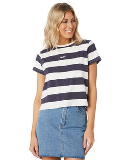 NAVY STRIPE WOMENS CLOTHING ALL ABOUT EVE TEES - 6444066STR