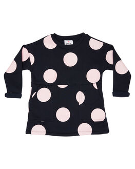 NAVY WITH PINK SPOT KIDS GIRLS EVES SISTER DRESSES + PLAYSUITS - 8034026NAVY