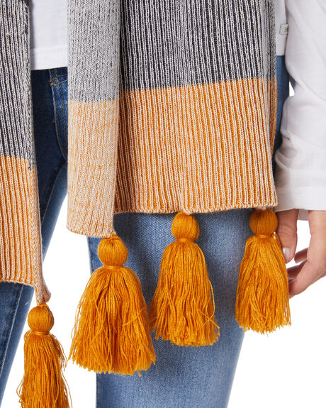 INCA GOLD WOMENS ACCESSORIES RUSTY SCARVES + GLOVES - MAL0406ING