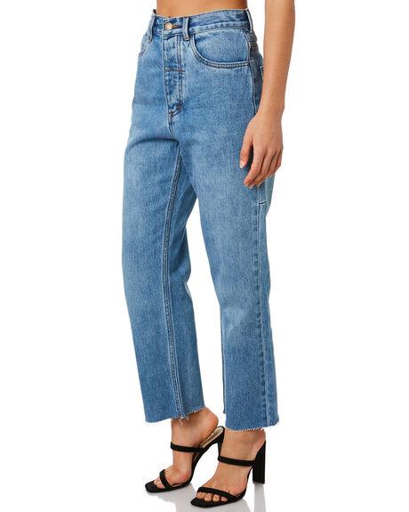 TRUCKER BLUE WOMENS CLOTHING THRILLS JEANS - WTDP-425ETTRKBL