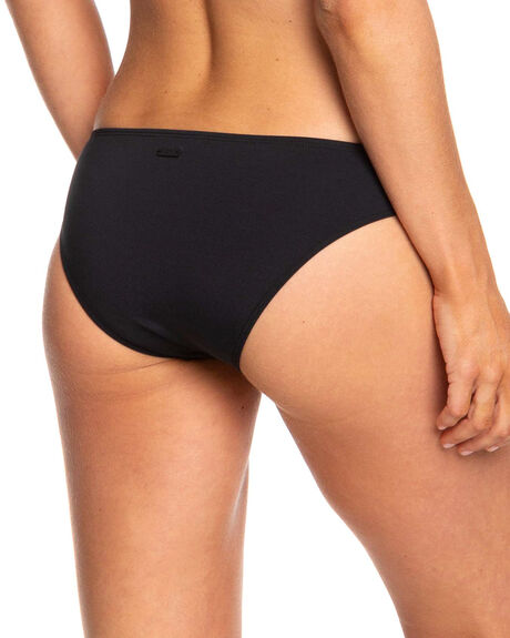 TRUE BLACK WOMENS SWIMWEAR ROXY BIKINI BOTTOMS - ERJX403835-KVJ0