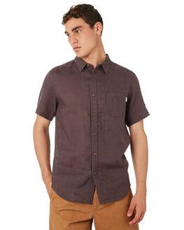 CHARCOAL MENS CLOTHING RHYTHM SHIRTS - OCT18M-WT03-CHA