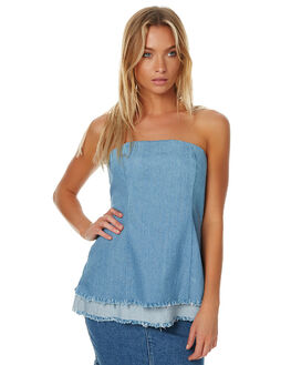 CHAMBRAY WOMENS CLOTHING STAPLE THE LABEL FASHION TOPS - UT1608406CHAMB
