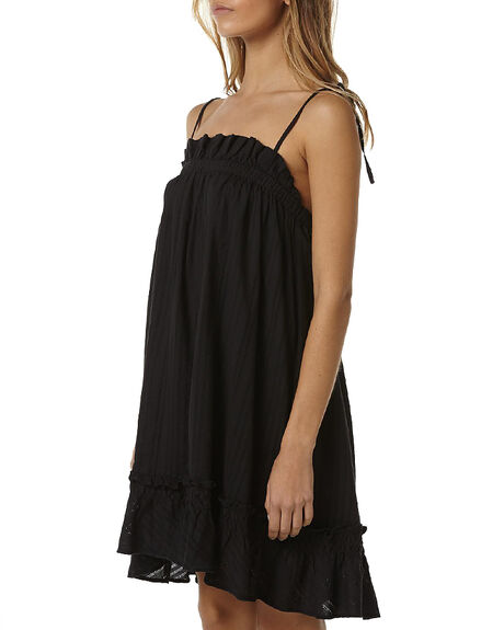 BLACK WOMENS CLOTHING RUSTY DRESSES - DRL0823BLK