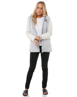 HERITAGE HEATHER WOMENS CLOTHING ROXY JACKETS - ERJFT03687SGRH