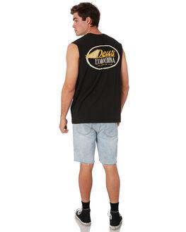 BLACK MENS CLOTHING DEUS EX MACHINA SINGLETS - DMP91140ABLK