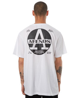 WHITE MENS CLOTHING AFENDS TEES - 01-01-291WHT