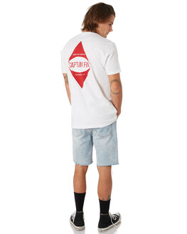 WHITE OUTLET MENS CAPTAIN FIN CO. TEES - CT193006WHT