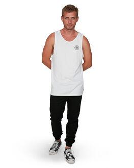 WHITE MENS CLOTHING VONZIPPER SINGLETS - VZ-V901526-WHT