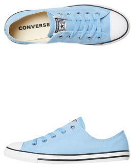 LIGHT BLUE WOMENS FOOTWEAR CONVERSE SNEAKERS - 561645BLU