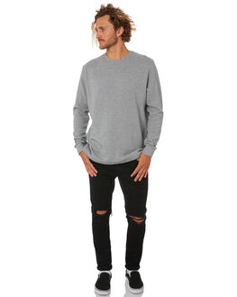 GREY MARLE MENS CLOTHING MR SIMPLE JUMPERS - M-03-31-13GRYM