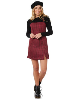 MAROON OUTLET WOMENS MINKPINK DRESSES - MP1802471MARO