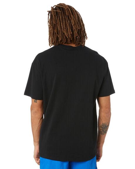 BLACK MENS CLOTHING STUSSY TEES - ST011000BLK