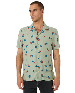 PALE GREEN MENS CLOTHING NUDIE JEANS CO SHIRTS - 140637G41