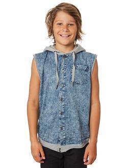 BLUE KIDS BOYS ST GOLIATH TOPS - 2420021BLU