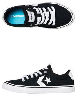 BLACK KIDS BOYS CONVERSE SNEAKERS - 663648CBLK