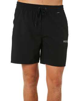 BLACK MENS CLOTHING HURLEY BOARDSHORTS - CU9007010