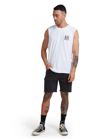 FLORAL MENS CLOTHING RVCA SINGLETS - RV-R182010-F30