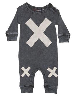 BLACK WASH KIDS BABY ROCK YOUR BABY CLOTHING - BBB1861-XMBLKW
