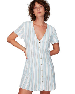 WHITE WOMENS CLOTHING RVCA DRESSES - RV-R292761-WHT