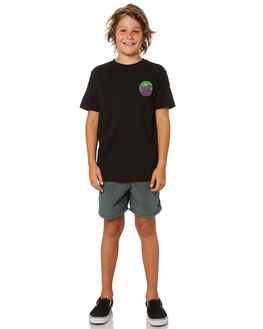 BLACK KIDS BOYS SANTA CRUZ TEES - SC-YTD8123BLK