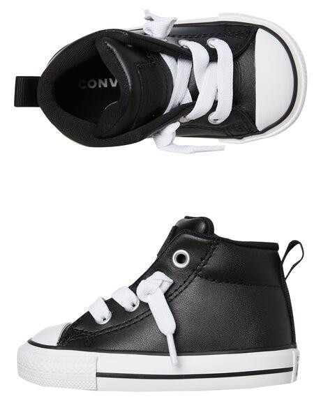 BLACK KIDS BOYS CONVERSE FOOTWEAR - 763836CBLK