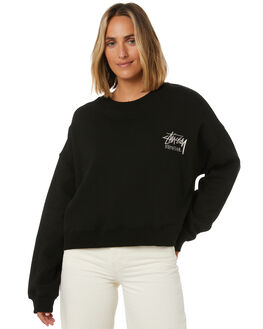 BLACK WOMENS CLOTHING STUSSY JUMPERS - ST106311BLK