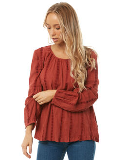 RUST OUTLET WOMENS THE HIDDEN WAY FASHION TOPS - H8182168RUST