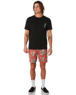 RED PARROTS MENS CLOTHING BARNEY COOLS BOARDSHORTS - 808-CC3REDPA