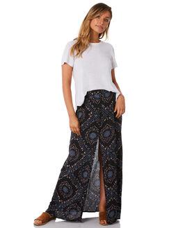 BLACK WOMENS CLOTHING RUSTY SKIRTS - SKL0442BLK