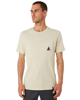 OYSTER WHITE MENS CLOTHING HUF TEES - TS00890-OYSWT