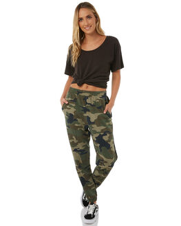 CAMO WOMENS CLOTHING STUSSY PANTS - ST185608CAMO