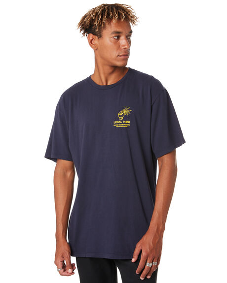 DARK NAVY MENS CLOTHING HUF TEES - TS00822-DKNAV