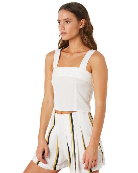 WHITE WOMENS CLOTHING SANCIA FASHION TOPS - 802AWHI