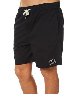 BLACK MENS CLOTHING RVCA BOARDSHORTS - R171402BLK