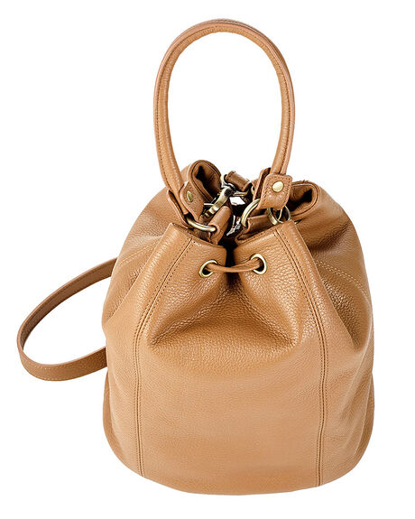 TAN WOMENS ACCESSORIES STATUS ANXIETY HANDBAGS - SA7162TAN