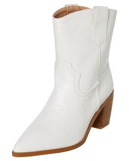 WHITE WOMENS FOOTWEAR BILLINI BOOTS - B965WHT