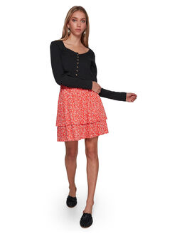RED WOMENS CLOTHING BILLABONG SKIRTS - BB-6507529-RED