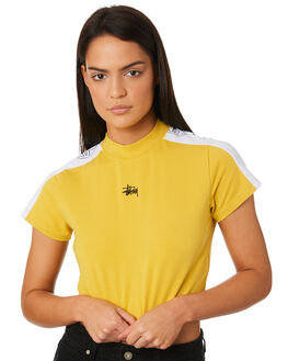 VINTAGE YELLOW WOMENS CLOTHING STUSSY TEES - ST183105VYEL