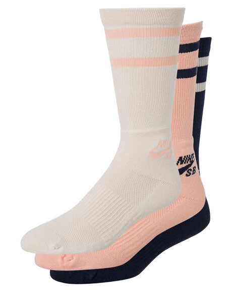WHITE PINK BLACK MENS CLOTHING NIKE SOCKS + UNDERWEAR - SX5760915