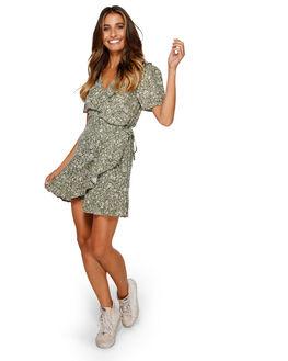OLIVE WOMENS CLOTHING BILLABONG DRESSES - BB-6591489-OLV