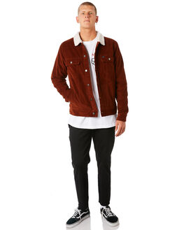 RUST MENS CLOTHING RVCA JACKETS - R181433RUST