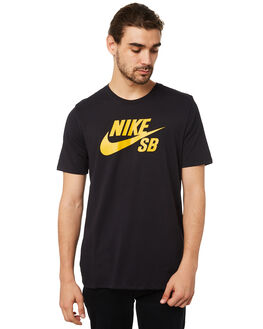 BLACK YELLOW MENS CLOTHING NIKE TEES - 821946020