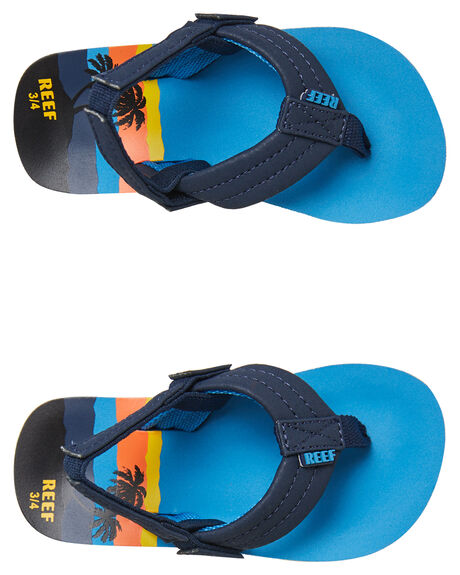 BLUE HAWAII KIDS BOYS REEF THONGS - 2345BLH
