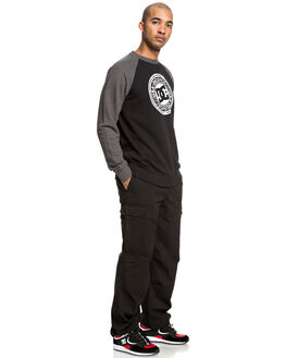 CHAR HEATHER/ BLACK MENS CLOTHING DC SHOES JUMPERS - EDYSF03198-XKKK