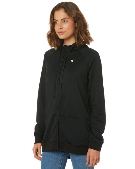 BLACK WOMENS CLOTHING HURLEY JUMPERS - AGFLDFZOC00A